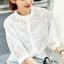 เสื้อผ้าแฟชั่น พร้อมส่งKorean Summer Time Lace Shirt thumbnail 2