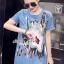 เสื้อผ้าเกาหลี พร้อมส่งGlitter Blossom Denim Dress thumbnail 8