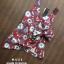 เสื้อผ้าเกาหลีพร้อมส่ง เสื้อแขนกุดคอวีพิมพ์ลายดอกไม้ thumbnail 7