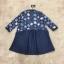 ชุดเดรสเกาหลีพร้อมส่ง Mira Lace Denim Cuite Dress thumbnail 8