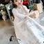 ชุดเดรสเกาหลี พร้อมส่งSummer Cross Back Luxury White Beach Dress thumbnail 5