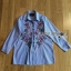 เสื้อผ้าเกาหลี พร้อมส่งเชิ้ตลายทางสีฟ้าปักลายดอกไม้ thumbnail 13