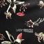 ชุดเดรสเกาหลี พร้อมส่งมินิเดรสสีดำพิมพ์ลายดอกไม้ทรงแขนบาน thumbnail 13