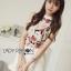 เสื้อผ้าเกาหลี พร้อมส่งLady Emily Floral Printout set thumbnail 1