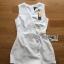 เสื้อผ้าเกาหลี พร้อมส่งจัมป์สูทขาสั้นติดกระดุมสไตล์มินิมัลชิคพร้อมโชคเกอร์ thumbnail 12