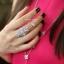 พร้อมส่ง APM Diamond Ring & Necklace งานเพชร CZ แท้ thumbnail 6