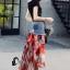 เสื้อผ้าเกาหลีพร้อมส่ง Sheila Black Top + Denim Skirt thumbnail 3