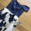 ชุดเดรสเกาหลีพร้อมส่ง เดรสผ้าคอตตอนเปิดไหล่และผ้าทูลเลปักลายดอกไม้ thumbnail 13