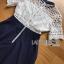 ชุดเดรสเกาหลี พร้อมส่งเดรสผ้าลูกไม้สีขาวและกระโปรง thumbnail 10