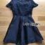 Gabby Black Flower Embroidered Satin Mini Dress thumbnail 6