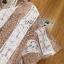 เสื้อผ้าเกาหลี พร้อมส่งเซ็ตเสื้อลูกไม้ลายทางทรงคัทเอาท์และกางเกงขากว้างสีเบจ thumbnail 11