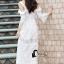 ชุดเดรสเกาหลี พร้อมส่งSummer Lifesyle Luxury White Lace Dress thumbnail 3