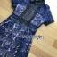 ชุดเดรสเกาหลี พร้อมส่งเดรสผ้าลูกไมลายดอกไม้สีน้ำเงินตกแต่งปกสีดำ thumbnail 11