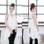 เสื้อผ้าแฟชั่นเกาหลีพร้อมส่ง เสื้อตัวยาวแขนกุด ผ้าZara เงาสวย thumbnail 7