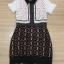 ชุดเดรสเกาหลี พร้อมส่งSel# P$rtr@it Luxury Lace Mini Dress thumbnail 4