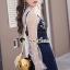 เสื้อผ้าเกาหลีพร้อมส่ง Pinky Flora Stick Cami Denim Dress Set thumbnail 4