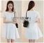 ชุดเดรสเกาหลี พร้อมส่งเดรสผ้าโพลีเอสเตอร์ตัดต่อลูกไม้สีขาวสไตล์เฟมินีน thumbnail 5