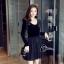 ชุดเดรสเกาหลี พร้อมส่งCendrillon Pricess Black Dress thumbnail 3
