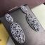 พร้อมส่ง Diamond Earring ต่างหูเพชร CZ แท้ประดับมุก thumbnail 3