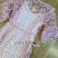 ชุดเดรสเกาหลี พร้อมส่งเดรสผ้าลูกไม้สีชมพูสไตล์เฟมินีนสุดหวาน thumbnail 10
