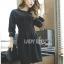 Tanna Crystal Embellished Draped Black Dress thumbnail 6