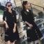 เสื้อผ้าเกาหลี พร้อมส่งParisian Luxury Winter Black Wooly Top + Skirt Set thumbnail 2