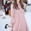ชุดเดรสเกาหลี พร้อมส่งmini dress สีชมพูพาสเทล thumbnail 2