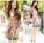 ชุดเดรสเกาหลี พร้อมส่งเดรสผ้าวิสโคสสีชมพูพิมพ์ลายธรรมชาติ thumbnail 15