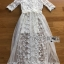 Vanessa Flower Embroidered White Tulle and Lace Dress thumbnail 7