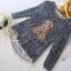 เสื้อผ้าเกาหลี พร้อมส่ง เสื้อแขนยาวกันหนาว แพทเทิร์นเป็นแบบสวมคอ ขนฟูฟรุ้งฟริ้งนุ่มนิ่ม thumbnail 4