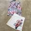 เสื้อผ้าเกาหลี พร้อมส่งเซ็ตเสื้อแขนกุดพิมพ์ลายดอกไม้กราฟฟิก thumbnail 11
