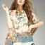 เสื้อผ้าเกาหลี พร้อมส่งเสื้อพิมพ์ลายใบไม้หลากสี thumbnail 1