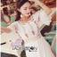 ชุดเดรสเกาหลี พร้อมส่งเดรสยาวผ้าคอตตอนตกแต่งลูกไม้ thumbnail 7