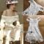 ชุดเดรเสกาหลี พร้อมส่งเดรสผ้าลูกไม้สีขาวทรงเปิดไหล่สไตล์คลาสสิกวินเทจ thumbnail 7