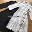 เสื้อผ้าเกาหลี พร้อมส่งสูทเดรสตกแต่งริบบิ้นสไตล์มินิมัล thumbnail 10