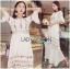ชุดเดรสเกาหลี พร้อมส่งเดรสยาวผ้าคอตตอนตกแต่งลูกไม้ thumbnail 5