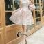 ชุดเดรสเกาหลีพร้อมส่ง Joy Happy Life Luxury Dress thumbnail 1