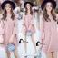 ชุดเดรสเกาหลี พร้อมส่งmini dress สีชมพูพาสเทล ทรงไฮโซหรูหรา thumbnail 6