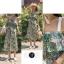 เสื้อผ้าเกาหลีพร้อมส่ง จั้มสูทลายดอก ระบายช่วงอก thumbnail 3