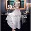 Hana Classic Feminine Lace Maxi Dress in White thumbnail 4