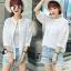 เสื้อผ้าแฟชั่น พร้อมส่งKorean Summer Time Lace Shirt thumbnail 7