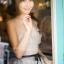 ชุดเดรสเกาหลีพร้อมส่ง Grey Princess Luxury 3D Floral Dress thumbnail 3