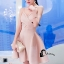 ชุดเดรสเกาหลีพร้อมส่ง Sweet Pinky Sensual Dress thumbnail 5