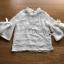 เสื้อผ้าเกาหลีพร้อมส่ง เสื้อผ้าลูกไม้ตกแต่งระบายที่คอแขนเสื้อตกแต่งริบบิ้น thumbnail 9
