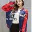 เสื้อผ้าเกาหลี พร้อมส่งบอมเบอร์แจ๊คเก็ตผ้าซาตินปักลายสีสดใส thumbnail 7