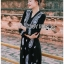 ชุดเดรสเกาหลี พร้อมส่งเดรสสีดำปักลายลูกน้ำสไตล์โบฮีเมียน thumbnail 1