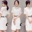 ชุดเดรสเกาหลี พร้อมส่งDG All New Golden Floral Luxury Dress thumbnail 4