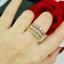 พร้อมส่ง Diamond Bracelet & Ring งาน 3 กษัตริย์ สีเงิน/ทอง/พิ้งโกลด์ thumbnail 8