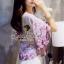( พร้อมส่งเสื้อผ้าเกาหลี) เสื้อเนื้อผ้าชีฟองสวยหวานด้วยงานพิมพ์ลายดอกไม้ เล่นลายผ้าเป็นลายเชิงที่ชายเสื้อและชายแขน โทนสีเก๋ด้วยโทนสีม่วง มาพร้อมกับกางเกงขาสั้น ลูกไม้มีดีเทลน่ารักๆ ที่ชายกางเกงเป็นฟรุ้งฟริ้ง น่ารักมากคะ thumbnail 2