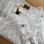 เสื้อผ้าเกาหลี พร้อมส่งเสื้อผ้าคอตตอนทอลายตกแต่งลูกไม้สีขาวสไตล์วินเทจ thumbnail 10